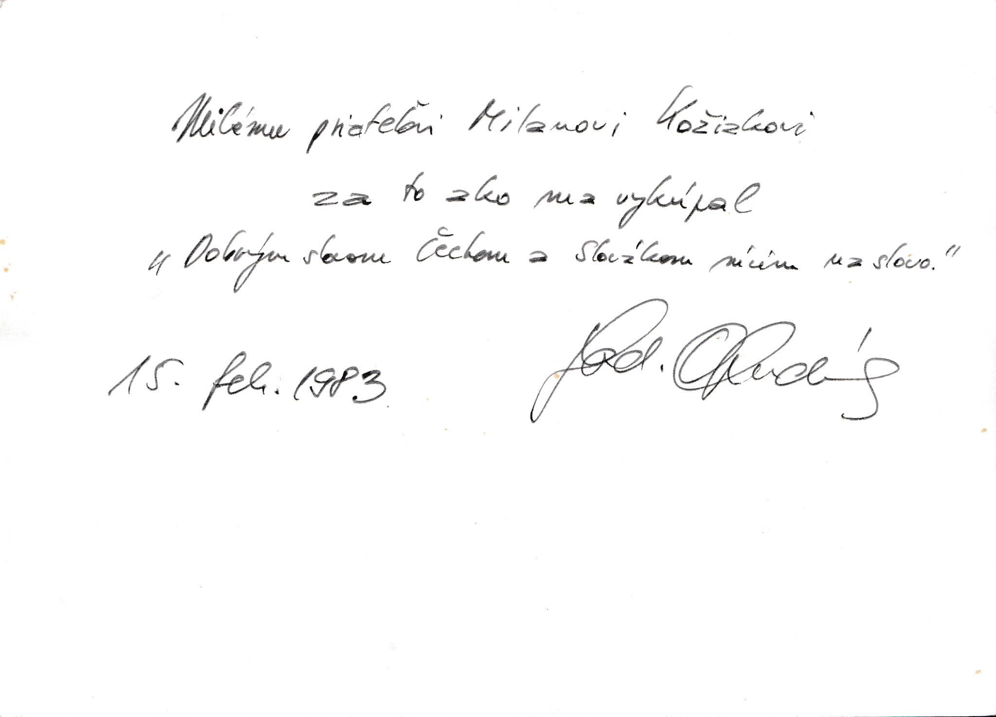 Vzácny autogram