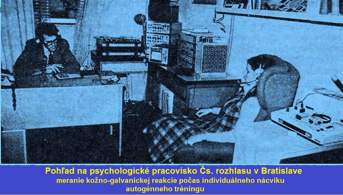 Pohľad na psychologické pracovisko Čs. rozhlasu v Bratislave