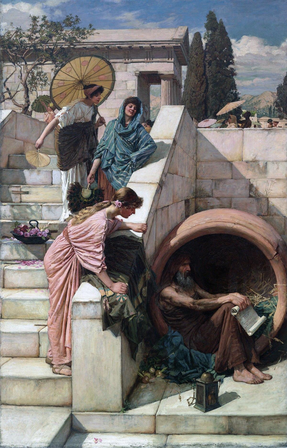 Diogenés a ženy