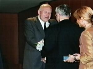 Václav Břicháček Kongres EAWOP Praha 2001 Ocenenie za celoživotné zásluhy o rozvoj psychológie práce