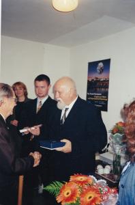 Ján Cryzostom Raiskup - Kongres EAWOP Praha 2001 Ocenenie za celoživotné zásluhy o rozvoj psychológie práce