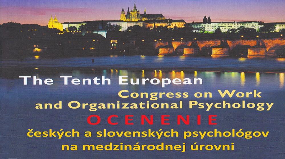 OCENENIE českých a slovenských psychológov práce na európskom fóre