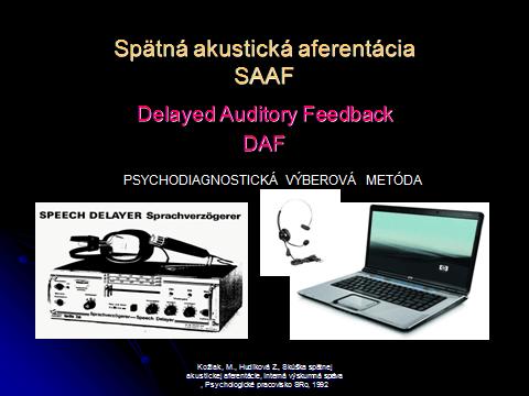 SAAF - Spätná akustická aferentácia